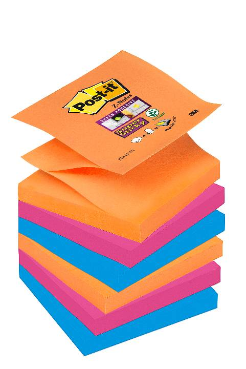 Öntapadós j.tömb R330-6SS-EG 76x76mm Super Sticky Z szivárvány Post-it -