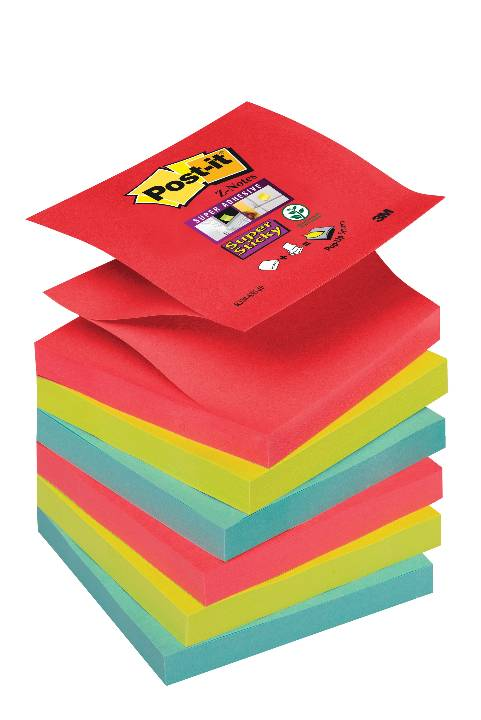 Öntapadós j.ömb R330-6SS-JP 76x76mm Super Sticky Z szivárvány Post-it -